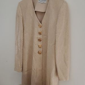 Vintage St. John Evening Gold Jacket Size 6